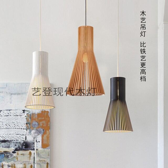 Modernen Minimalistischen Kreative Sdostasiatischen Bambus Holz Pendelleuchte Wohnzimmer Esszimmer Bar Hngen Beleuchtung