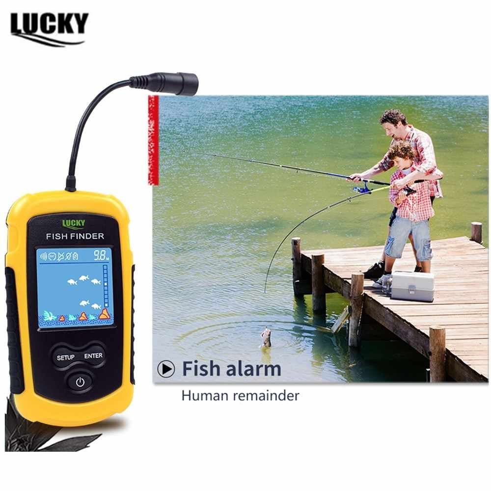 Findfish Draadloze Draagbare Sonar Fishfinder Handheld Bedraad Fishfinder Fishfinder Alarm Sensor Transducer Met Lcd Dispaly