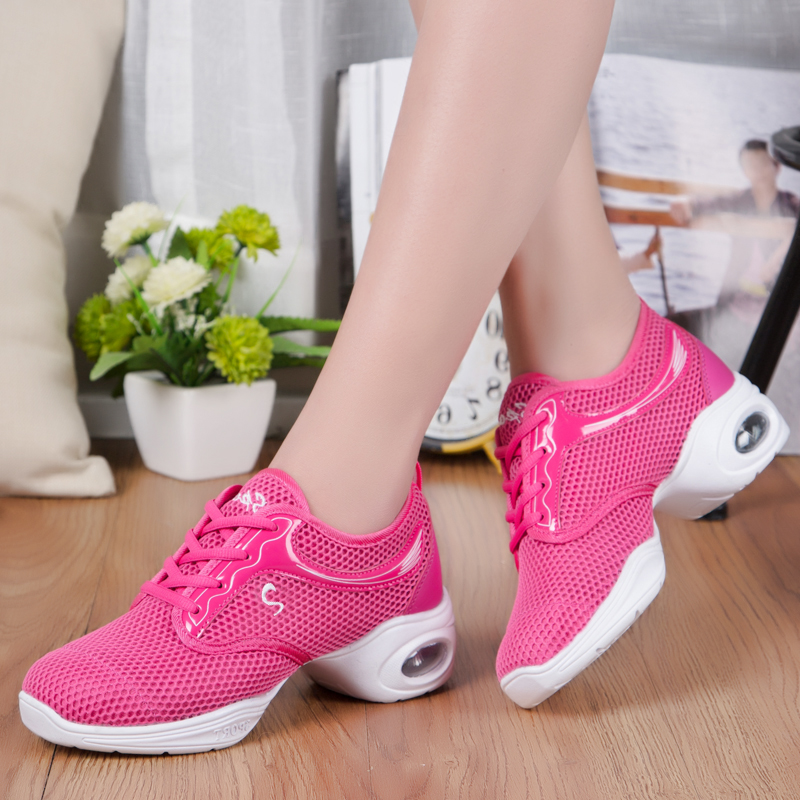 EU35-40 Sports Feature Soft Outsole Breath Dance Shoes Sneakers For Woman Practice Shoes Modern Dance Jazz Shoes Discount 7315