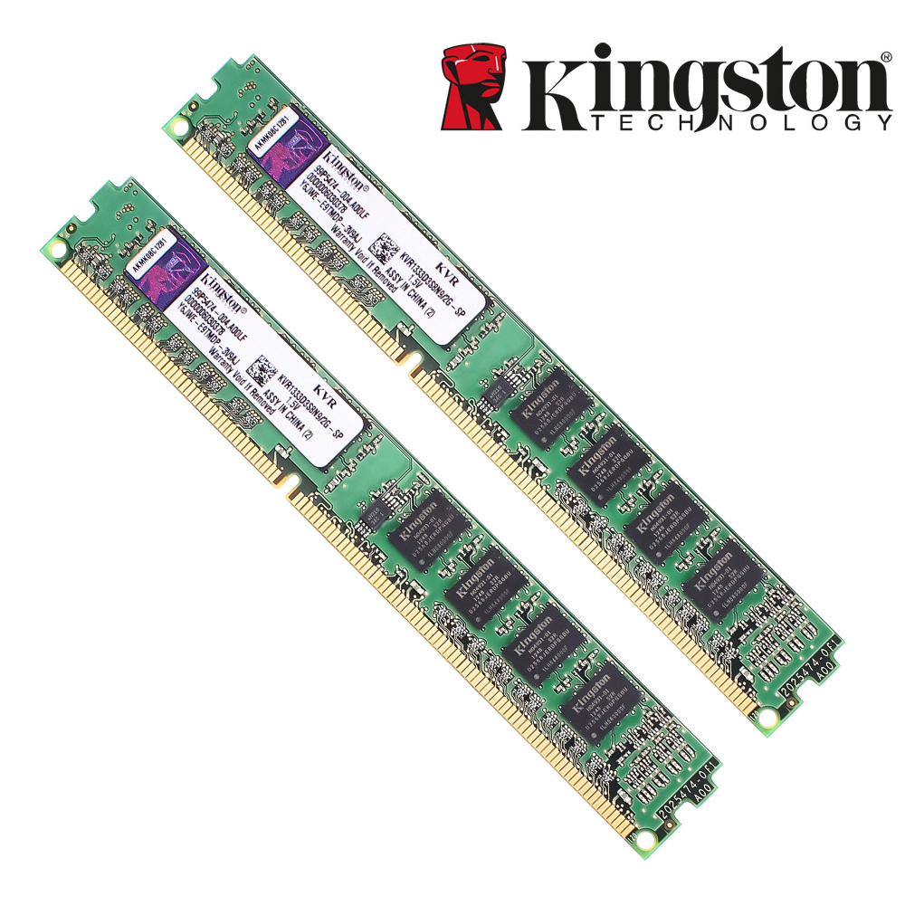 Kingston Original RAM Memory DDR3 2GB PC3-10600 DDR 3 1333MHZ KVR1333D3S8N9/2G  For Desktop