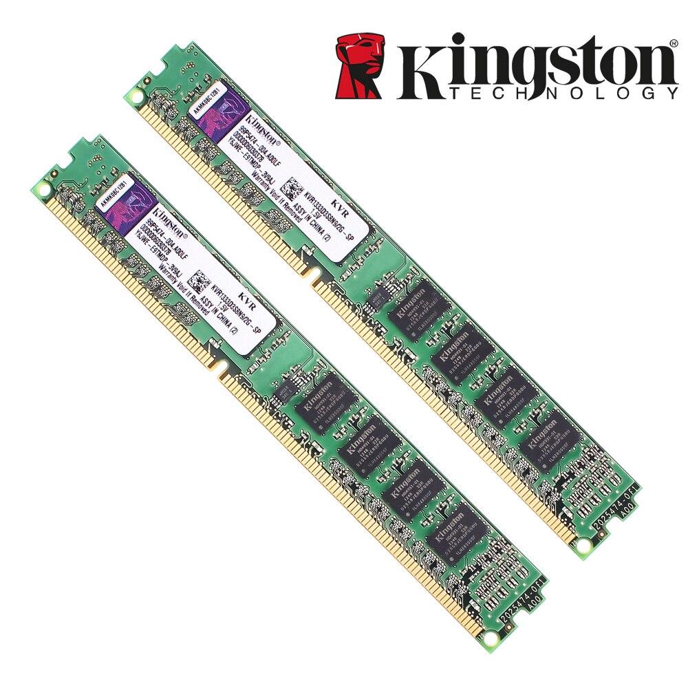 Kingston mémoire RAM originale DDR3 2GB PC3-10600 DDR 3 1333MHZ KVR1333D3S8N9/2G pour bureau