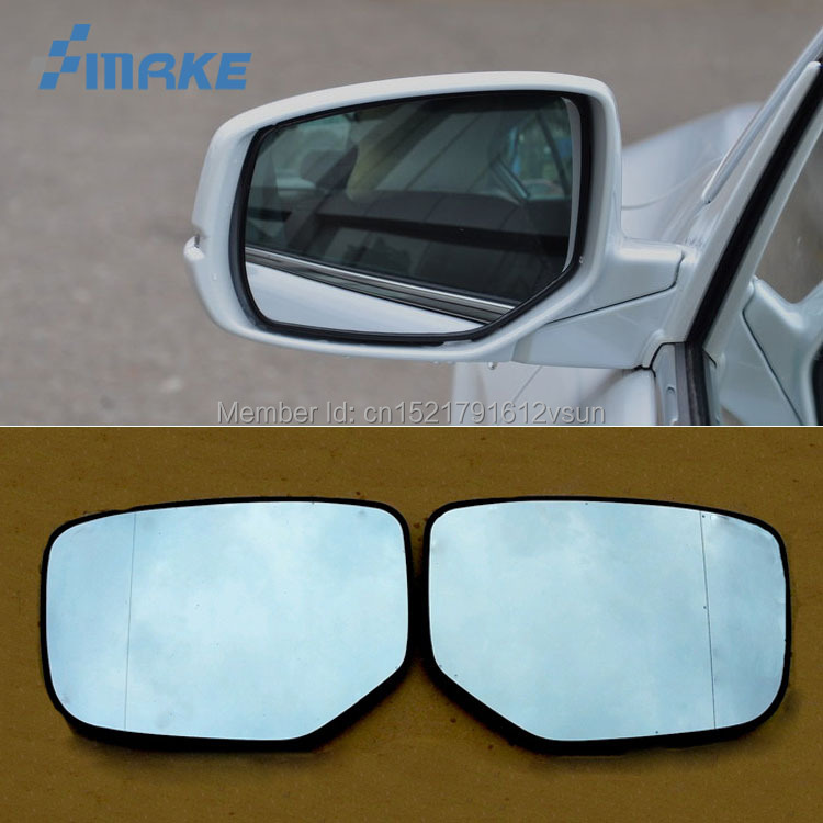 smRKE 2Pcs For Honda Accord Rearview Mirror Blue Glasses Wide Angle Led Turn Signals light Power Heating