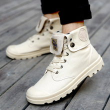 Men Military Boots 2019 Outdoor Fashion Canvas High Top Shoes Men Casual