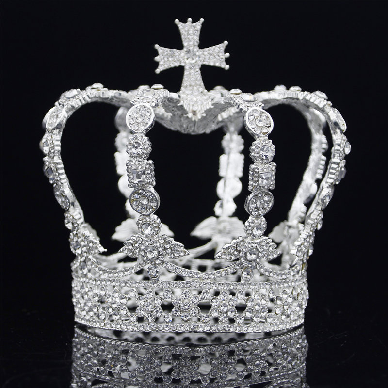 Goede Kopen Mannelijke Cross Crown Barokke Bridal Wedding