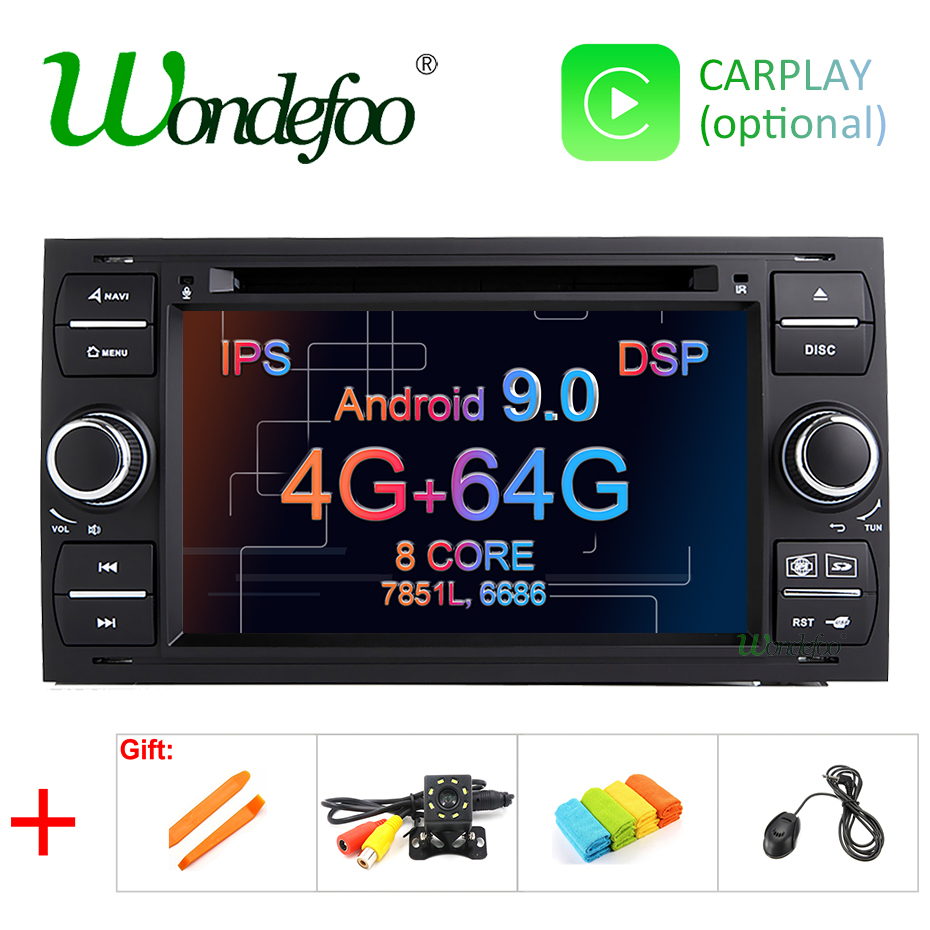 DSP IPS 2 din Android 9 0 4G 64G Car GPS For Ford Mondeo S max