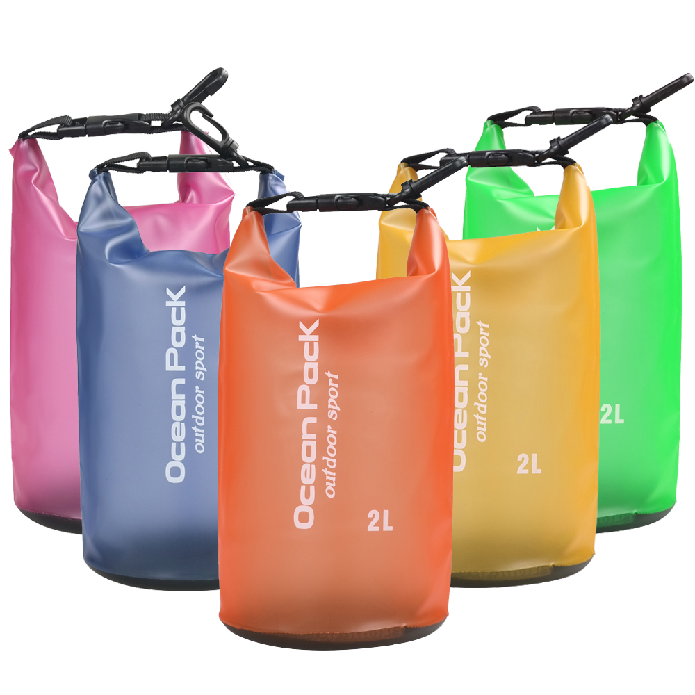 2L Waterproof Water Resistant Dry Bag Sack Storage Pack Pouch Swimming Kayaking Canoeing River Trekking Boating Sailing Fishing
