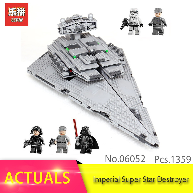 LEPIN 05062 1359Pcs The Super Fighting Destroyer Model Building Blocks Set Educational Bricks Toys For Children Gift 75055