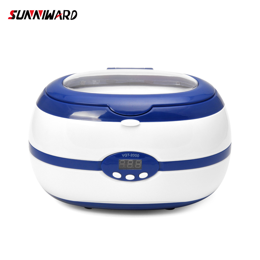 Vgt-2000 Ultrasonic Cleaner 600ml 35w For Necklace Earrings Bracelets Dentures Household Ultrasonic Baths