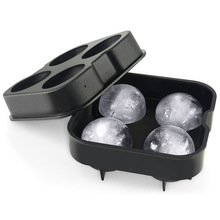 Whiskey Cocktail Ice Cube Tray 4 Large Mold Silicone Ice Ball Maker Large Ice Cube Molds Maker Kitchen Accessories