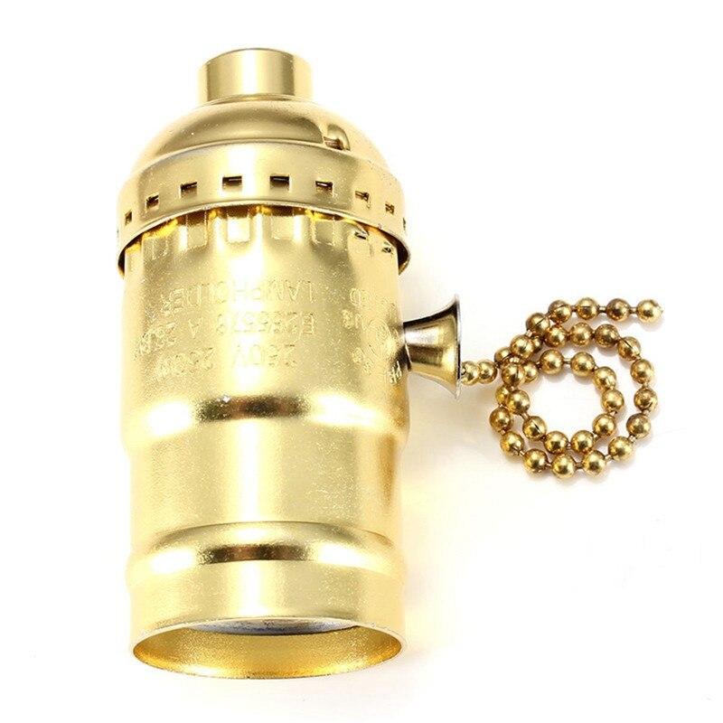 E27 Vintage Edison Lamp Base Holder Antique Lamp +120cm cable For Incandescent bulb Pendant Light for home decor bombillas