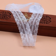 (10 m/roll) 4cm White Lace Fabric Webbing Decoration Lovely Gift Packing Material Non-Elastic Diy Clothing Accessories