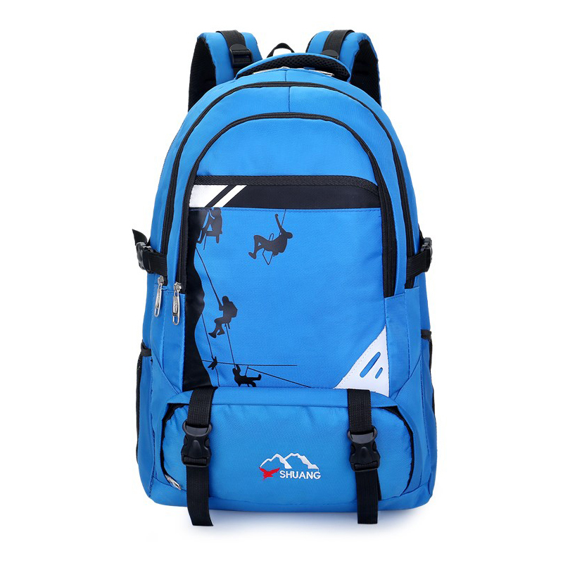 Travel Backpack Large Capacity Men Nylon Outdoor Mountaineering Bag Waterproof Lightweight Sports Hiking Leisure Function Bags