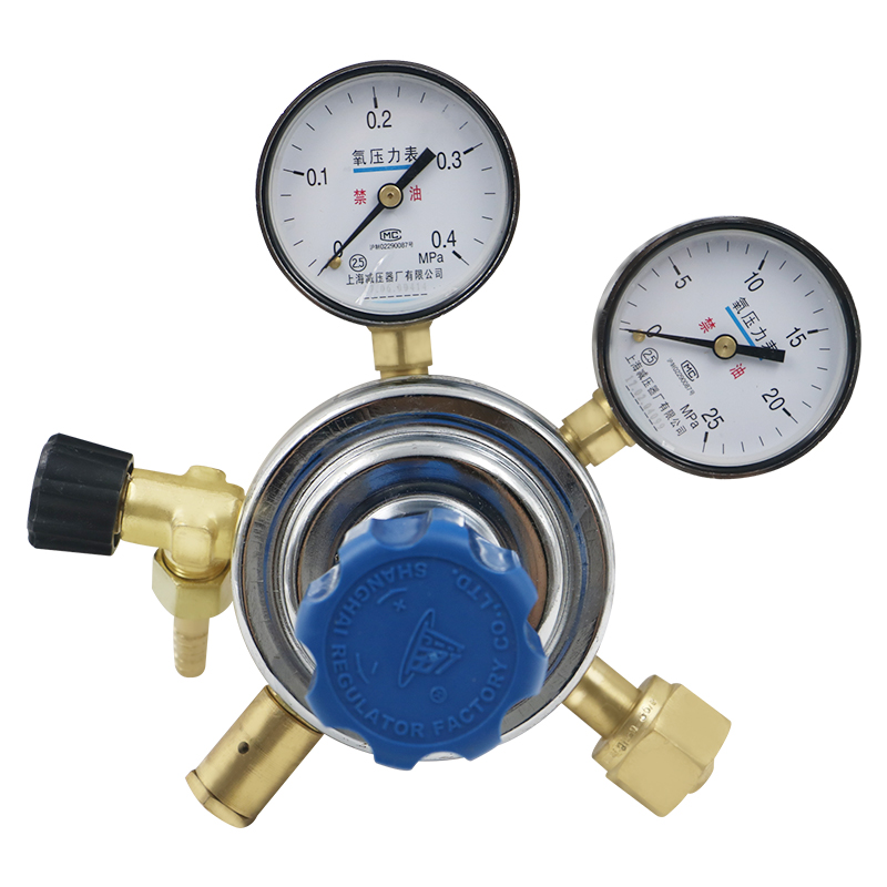 YQY-6 oxygen reducer with output, flow fine adjustment pressure relief valve pressure gauge dispensing valve tip seal fine flow adjustment with dial c h1011