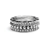 VR216 VCOOL Jewelry Women Vintage Titanium Allure Ring Retro Wedding Band Full CZ Stones Female Rings
