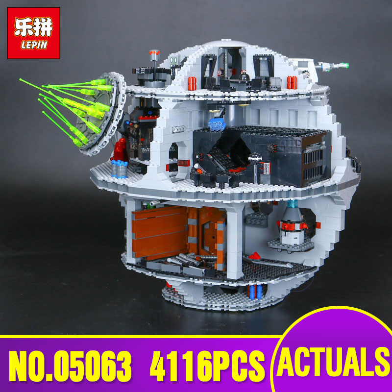 2017 Lepin  05063 Star 4116pcs Genuine New War Force Waken UCS Death Educational Building Blocks Star Bricks Toys Boy Toys 75159 in stock lepin 05063 4116pcs 05035 3804pcs star force waken ucs death wars model building blocks bricks toys gifts 75159 10188