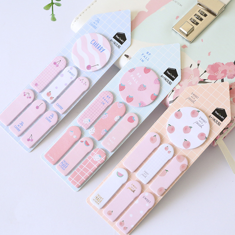 1pc Cute Kawaii Memo Pad Sticky Notes Stationery Sticker Index Posted Planner Stickers Notepads Office School Supplies