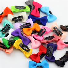 "10pc 2"" Little Bow Solid Ribbon Bows Babies Fine Wispy Hair Mini Latch Wisp Clip Newborn Small Hair Clip Infant Hairbows Hairpin"