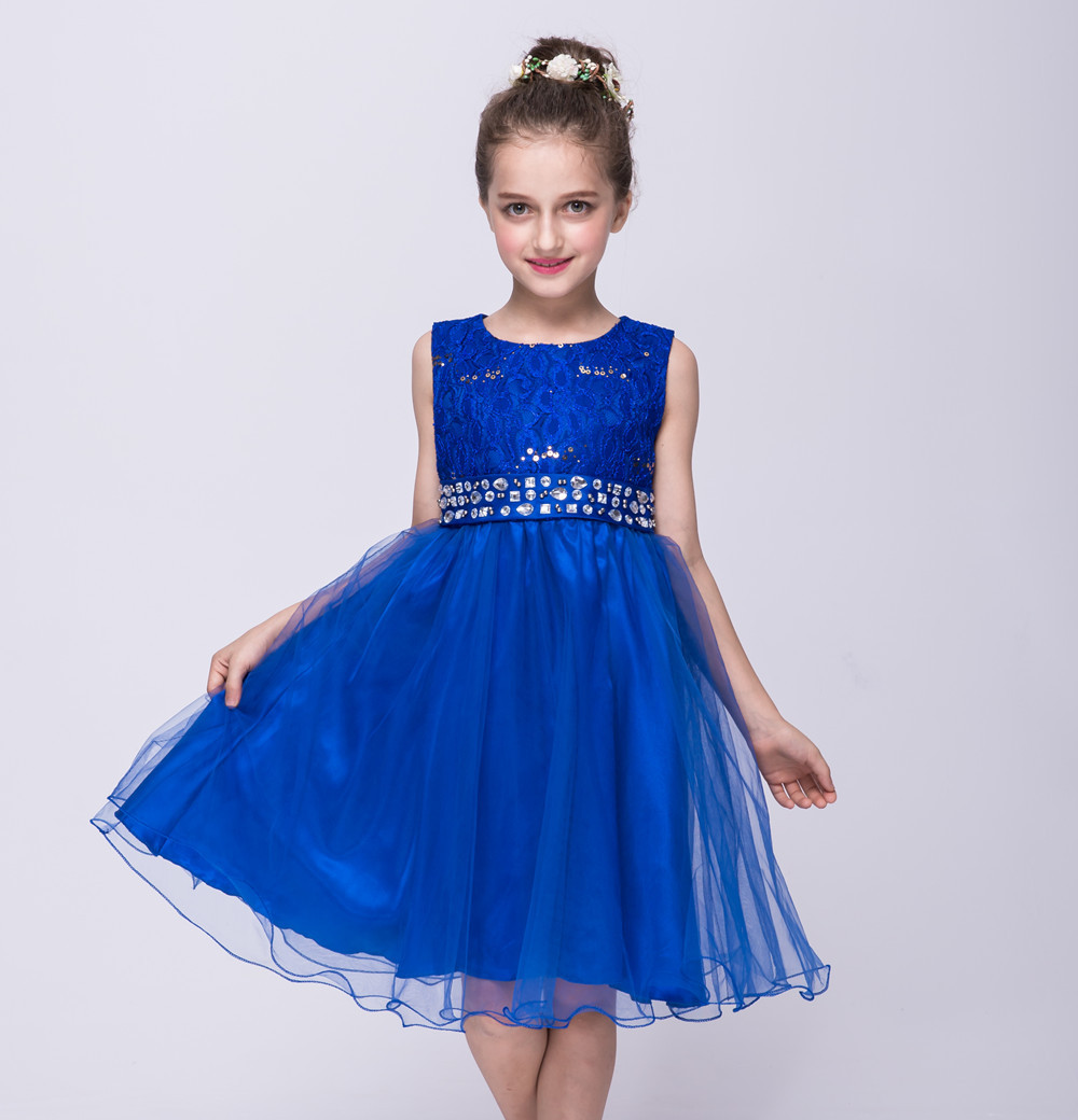 Luckyqiang Fashion Old Flower Girl Dress kids dress baby ...