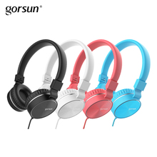 HIFI Stereo Metal Wired Headphone Foldable Headset FM and Over-ear Adjustable With Mic for Smart phone for mobile gorsun GS776