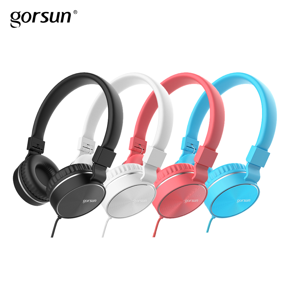 Headphones with Mic Wired Portable Foldable On-Ear Headset with Microphone Volume Control for Phones xiaomi PC MP3 Gorsun GS776