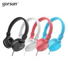 Fones de ouvido com fio com Microfone Portátil Dobrável On-Ear Fone de Ouvido com Microfone Controle de Volume para Telefones xiaomi PC MP3 Gorsun GS776