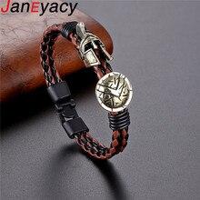 Модный Спартанский шлем мужской браслет Европа взрыв ювелирные изделия ретро женский браслет женский отважный рыцарский браслет прекрасный подарок