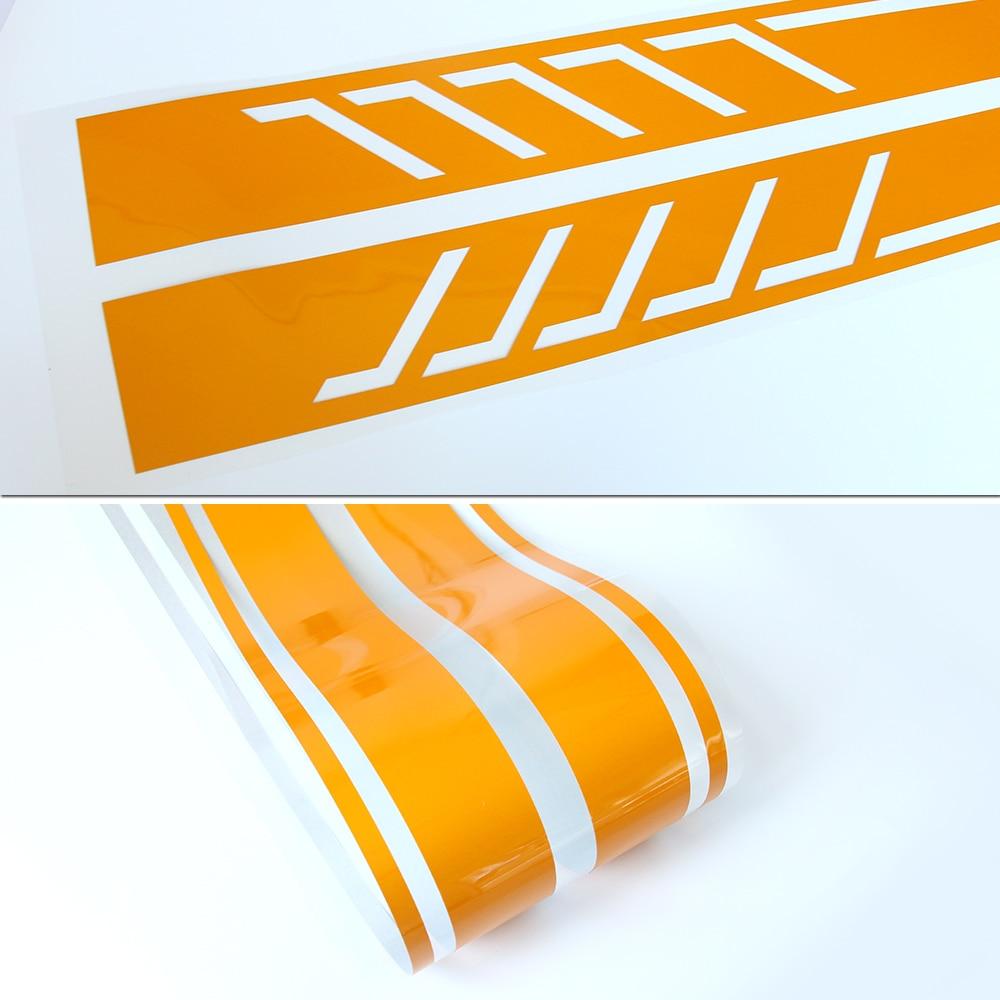 507 Style Sidokjol Racing Stripes Vinyl dekal klistermärke för - Exteriör biltillbehör - Foto 4