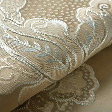 Luxury Jacquard Curtains for Bedroom Blinds Drapes Beige Embroidered Flower Window Curtains for Living Room Cream High Shading