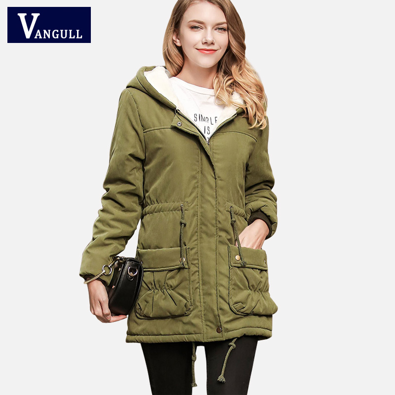 Women Winter Spring Jackets Coats With Hood 2017 Fashion Womens Parkas High Quality Womens Quilted Coat Vangull Outwear Hot Sale
