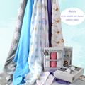 100x100cm 3 pieces set Muslin Baby Swaddling Blanket Newborn Infant 100% Cotton Swaddle Towel