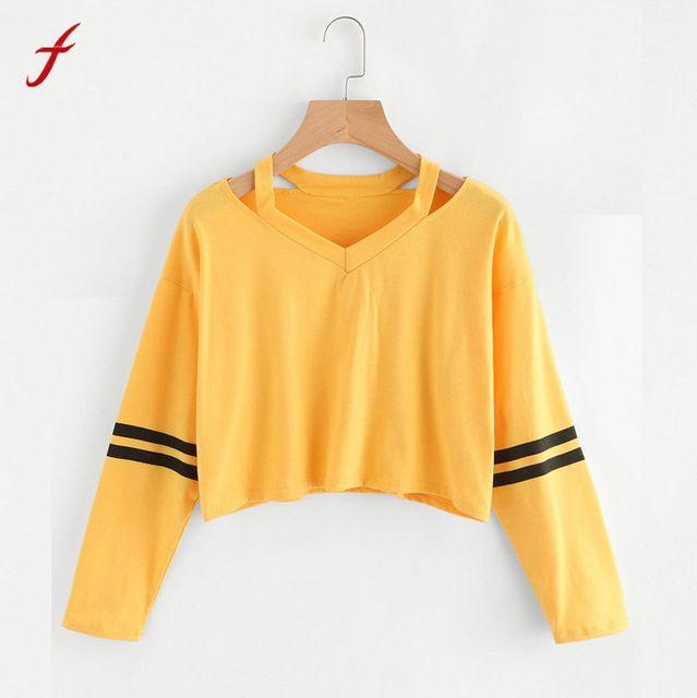 Feitong женские толстовки с капюшоном желтый полосатый обувь для девочек  осень весна пуловеры женщин Мода корейский ea4fc73787334