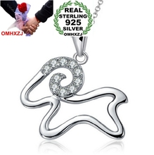 OMHXZJ Wholesale sheep Chinese zodiac AAA zircon 925 sterling silver NO Chain Necklace star jewelry woman pendant Charms PE22