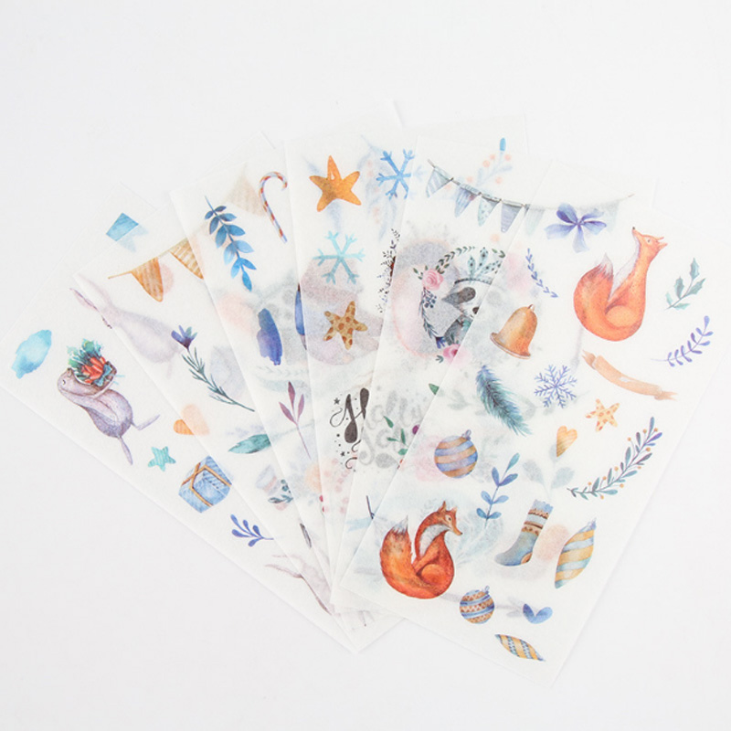 Купить с кэшбэком 6pcs/lot Fairy tale world Creative sticker child diy toy Calendar Album Deco sticker Photo Decor Student stationery material