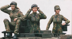 1/16 Hars Kits Duitse Panzerkampfwagen V Panther Vrouwen Crew 3 stks/set (geen tank)