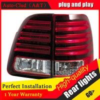 Светодиодный задние фонари для Toyota Land Cruiser хвост лампы 2000 2007 Прадо задний багажник лампы ДРЛ + сигнала + тормоз + обратный светодиодный свет
