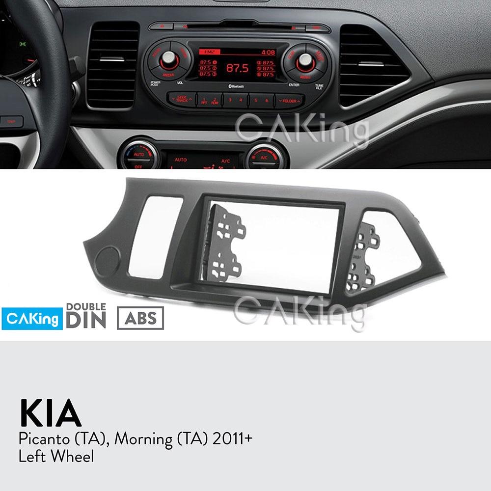Car Fascia Radio Panel for KIA Picanto TA Morning TA 2011 2017 Left Wheel Dash Kit