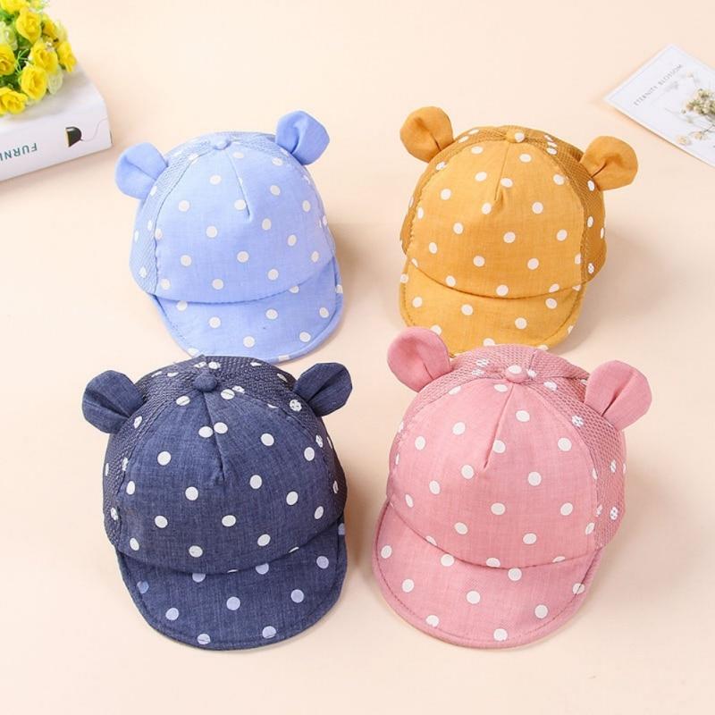 Śliczne kropki Little Ear Hat Kids Cap Noworodek Toddler Girl Boy - Odzież dla niemowląt - Zdjęcie 1
