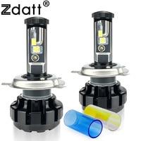 2Pcs Super Bright H4 Led Bulb 100W 9600LM Headlights High Power Car LED Lights 6000K White