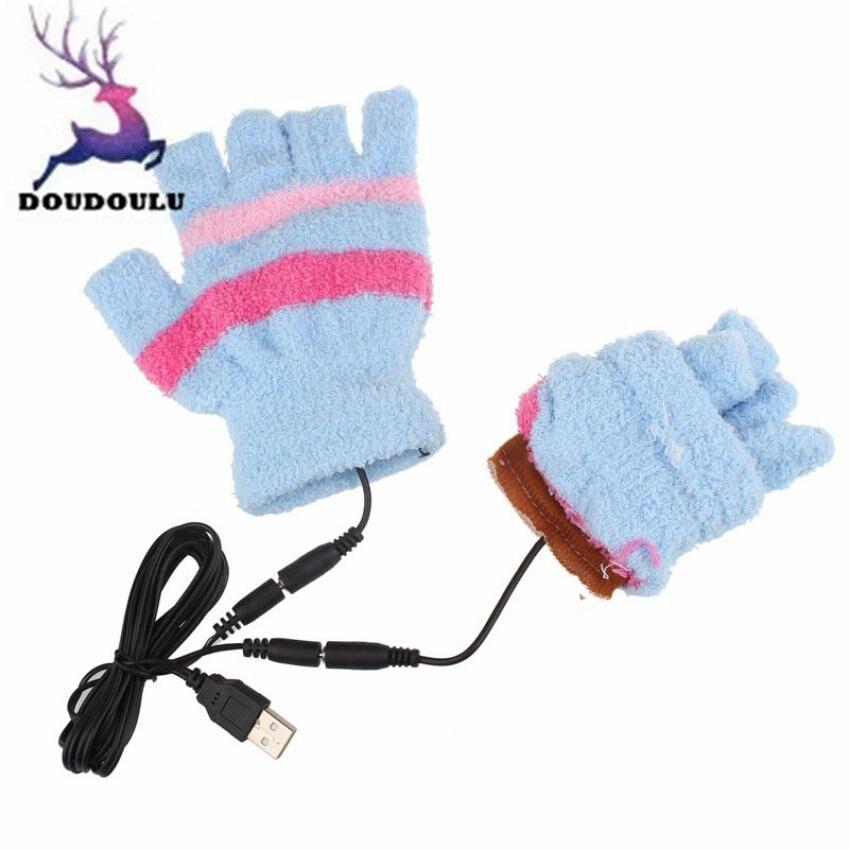 Doudoulu invierno Guantes mujeres calefacción USB invierno mano ...