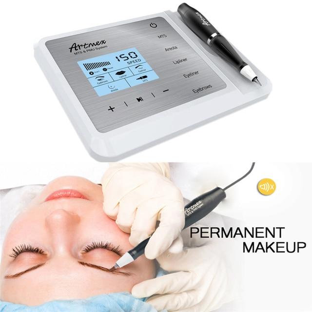 Artmex V9 Eye Brow Lip Rotary Pen Permanent Makeup Tattoo Machine MTS PMU System With V9 Tattoo Needle