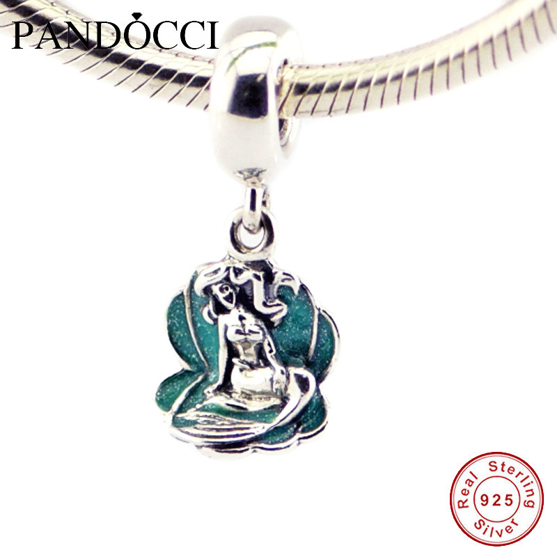 f9298b5cdc7 [Hot Sale] Fits Pandora Jewelry Bracelets 100% 925 Sterling Silver Beads  Ariel In A Shell Authentic Original Fashion Charms PANDOCCI-in Beads from  Jewelry & ...