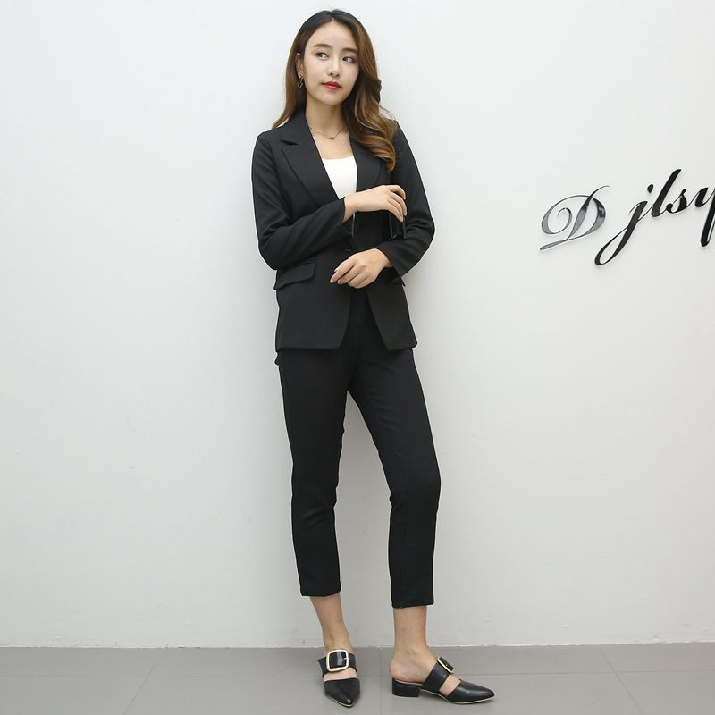 Women's suit 2019 spring and summer new fashion loose comfortable small suit two-piece female casual temperament clothes