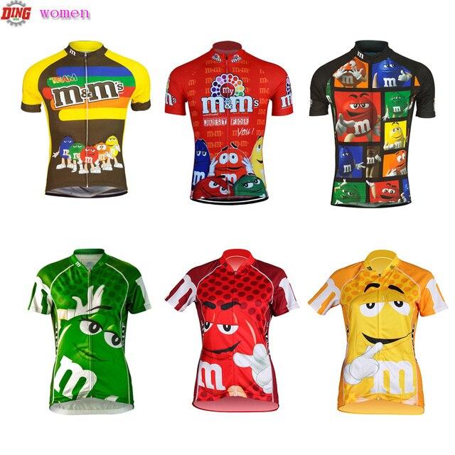 新しい女性サイクリングジャージートップバイクウエア半袖レッドイエローグリーンサイクリング服チームropa ciclismo mtbクラシック服