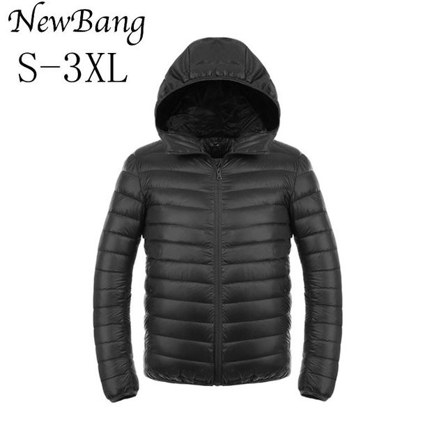 2017 Fashion Winter Jacket Men 90 Duck Down Jacket Men Ultralight Down Jacket With a Hood Outdoors Feather Parka With Carry Bag