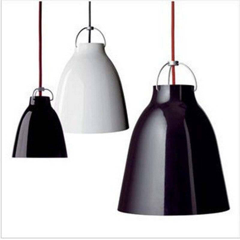 Modern Brief American Bell Pendant Light E27 loft Hanglamp Dining Room Aluminum Wind Chime Pendant Lamp Home Lighting Fixtures
