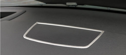 Steel Chromium Styling Inner Dashboard Middle Console Speaker Decorative Cover Trim 1pcs For BMW X6 E71 2009 2010 2012 2013 2014