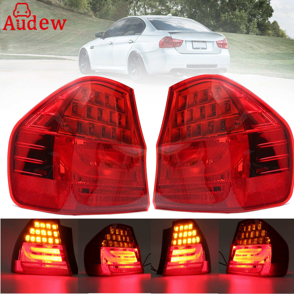 1Pcs Car Rear Tail Turn Lihgt Broke Stop Lamp  LED Light  LEFT / RIGHT Side Light For BMW 3 SERIES E90 2008-2011 free shipping for skoda octavia sedan a5 2005 2006 2007 2008 right side rear lamp tail light
