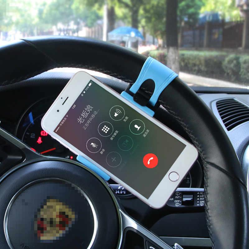 Chỉ đạo Bánh Xe Xe Đạp Móc Clip Núi Ban Nhạc Cao Su Giữ Điện Thoại Xe Hơi Chủ Đứng Đối Với iPhone 7 Cộng Với Samsung Cộng Với Xiaomi 8 9 sạc