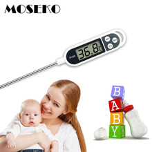 MOSEKO Digital Food Thermometer Kitchen Oven BBQ Cooking Meat Milk Water Measure Probe Kitchen Tool Barbecue Thermometer TP300