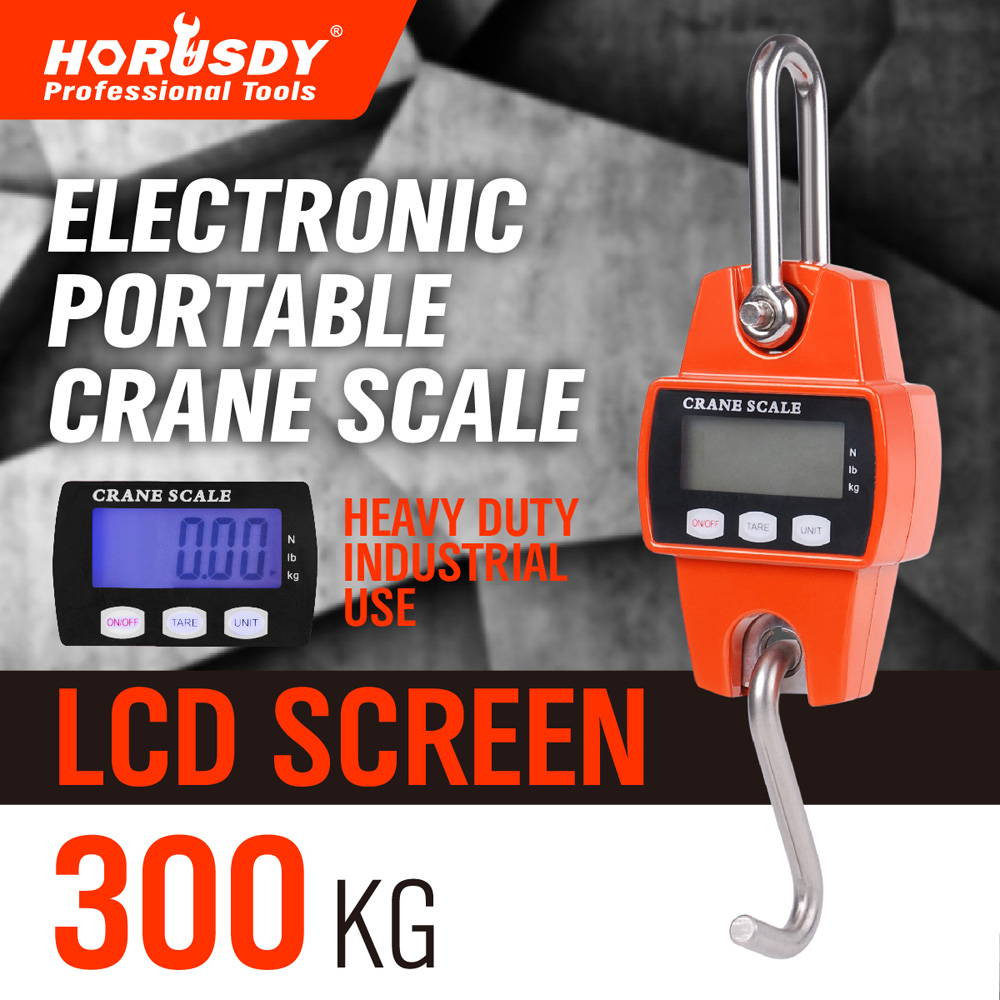 ФОТО HORUSDY Heavy Duty  0.1KG--300kg Electronic Portable Mini Crane Scale Weight Digital LCD Hanging HookIndustrial Weighing Scales